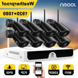 JOOAN 1/2T Wireless 8CH 1080P NVR HDD Home Outdoor Security