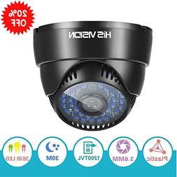 "HISVISION 1/3"" CMOS 1200TVL CCTV Home Surveillance 3.6mm len"
