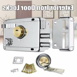 1 Set Exterior Iron Door Locks Multiple Security Anti-theft