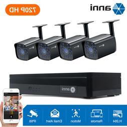 AOMG 1080P 8CH Network PoE NVR 4 IP IR Outdoor Cameras Secur