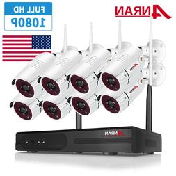 ANRAN 1080P 8CH Wireless Security Camera System with Night V