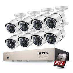 ZOSI 1080P CCTV Security Camera System HDMI 4CH 8CH DVR 2MP