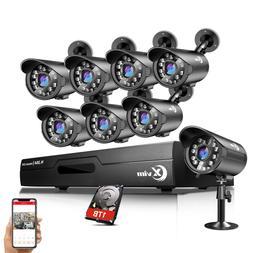 XVIM 1080P HDMI 8CH / 4CH DVR Indoor/Outdoor CCTV Security C