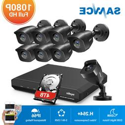 SANNCE 1080P HDMI 8CH DVR Indoor Outdoor Home Security Camer