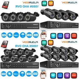 1080P HD 8CH AHD DVR 3000TVL Outdoor IR-CUT CCTV Security Ca