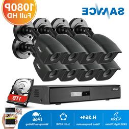 SANNCE 1080P HDMI HD-TVI 8CH/4CH DVR 720P Outdoor IR Home Se