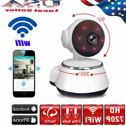 720P WIFI Wireless Pan Tilt Security IP Camera CCTV Night Vi