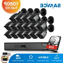 SANNCE HD 1080P Outdoor CCTV Camera 16CH 5IN1 DVR Night Visi