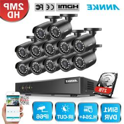 ANNKE 16CH 5in1 HD 1080P Lite DVR 2MP TVI CCTV Home Security