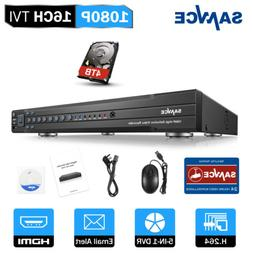 SANNCE 16CH/ 8CH/ 4CH HD 1080P DVR Video Recorder for Home S