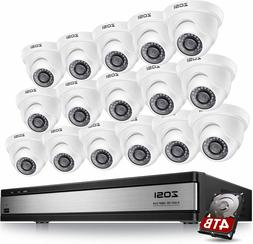 ZOSI 16Channel HDMI DVR Home CCTV Security Cameras System Ou