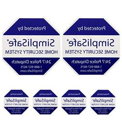simplisafe 2 Home Security Yard Signs and 4 Security Sticker