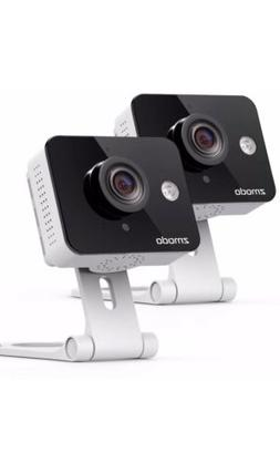 Zmodo 2 Pack Mini HD Wireless Indoor Security Camera Night V