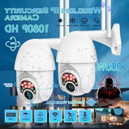 2 x HD 1080P IP Camera Outdoor WiFi PTZ CCTV Security Wirele