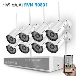Home Security Camera System Wireless,Safevant 8CH 1080P NVR