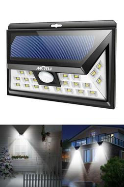Litom Solar Lights Outdoor, Wireless 24 LED Motion Sensor So