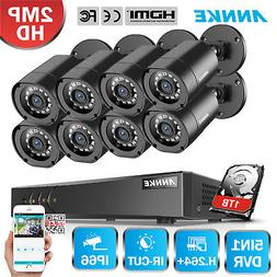 ANNKE 2MP HD-TVI CCTV Camera Home Security System 8CH 1080P