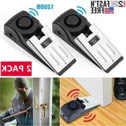 2Pack Door Stop Alarm Home Travel Wireless Security Alert Po