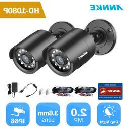 ANNKE 2pcs Full 1080P TVI Outdoor 2MP 3000TVL Security Camer