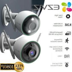 2x EZVIZ Outdoor Security Camera WIFI 1080P Smart Colored Ni