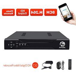 JOOAN 8CH 1080N DVR Security Video Recorder P2P Service Mobi