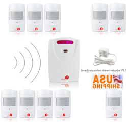 Home Security Wireless Alarm System 328ft LED Motion Sensor