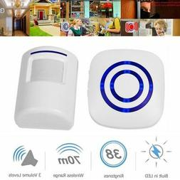 38 Chime LED PIR Motion Sensor Home Door Bell Security Drive