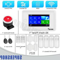3G GSM WIFI Smart Home Security Alarm System Anti Theft Syst