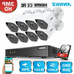 ANNKE 3MP 8CH H.264+ TVI DVR In/Outdoor 3D DNR Home Security