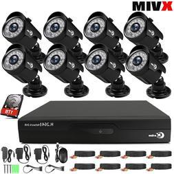 XVIM 4/8CH 1080P Home Security Camera System Outdoor IR Nigh