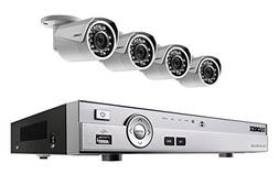 4 camera HD 1080p home security system with night vision