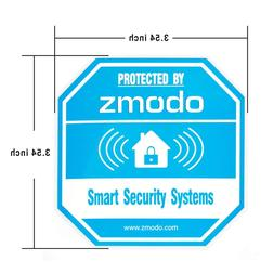 Zmodo 4 Pack Octagon-Shaped Warning Video Surveillance Sign,