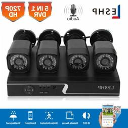 4CH 1080N DVR Home CCTV Security Camera System 720P IP65 + 4