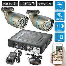 4CH 1080N DVR IR Cut CCTV Home Security Camera System Survei