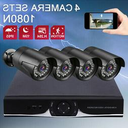 4CH 1080N HDMI DVR Home Outdoor Security Bullet CCTV Camera