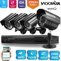 KKmoon 4CH 1080P DVR Outdoor CCTV Security Camera System Hom