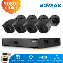 SANNCE 4CH 1080P HDMI DVR CCTV Home Security System 2MP Came