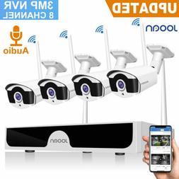 JOOAN 4CH 1080P NVR 2MP WIFI Wireless Security Camera CCTV H