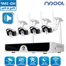 WIFI 8CH 3MP NVR Wireless Security System Audio Recorder CCT
