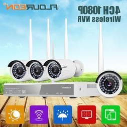 4CH 1080P Wireless CCTV DVR Outdoor Camera Home Security Sur