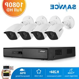SANNCE 4CH 5IN1 DVR Video Record 3000TVL HD Outdoor Home Sec