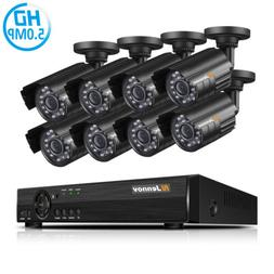 4CH 5MP AHD Home Camera Security System Kit Video Surveillan