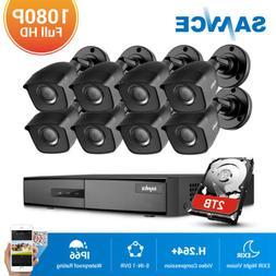 SANNCE 4CH 8CH DVR 1080P TVI 3000TVL Outdoor 2MP Video IR Se