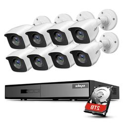 SANNCE 4CH 8CH 1080P HDMI DVR H.264+ 2MP Outdoor CCTV IR Sec