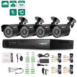 4CH CCTV Security Camera System 1080P Kit DVR HD Home Survei