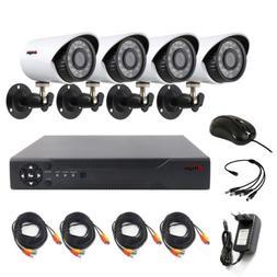 4CH CCTV Security Camera System Kit AHD DVR IR Night Vision