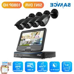 SANNCE 4CH 1080N DVR LCD Monitor 1500TVL Outdoor IR Home Sec