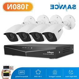 SANNCE 4CH 1080N DVR Video Record 1500TVL Outdoor HD Home Se