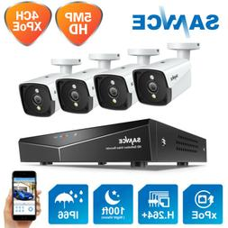 SANNCE 4CH NVR 5MP Video PoE Home Security Camera System Out