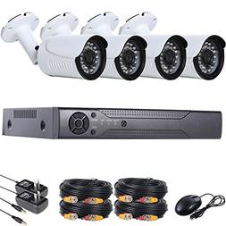 UHPPOTE 4CH 960P Outdoor Video Surveillance CCTV AHD Securit
